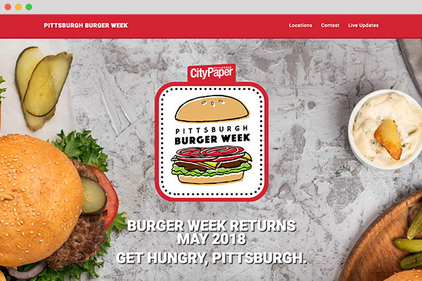 Pittsburgh Burger Week Responsive Bootstrap Website