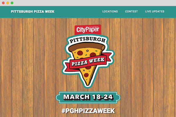 Pittsburgh Pizza Week Responsive Bootstrap Website